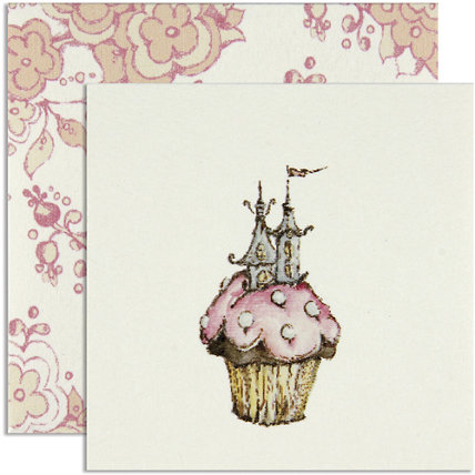 Castle Cupcake Gift Enclosure Card