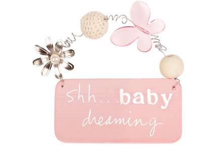 Baby Dreaming Girl Small Treasured Plaque