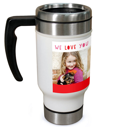 Red Licorice Love 13oz Travel Mug