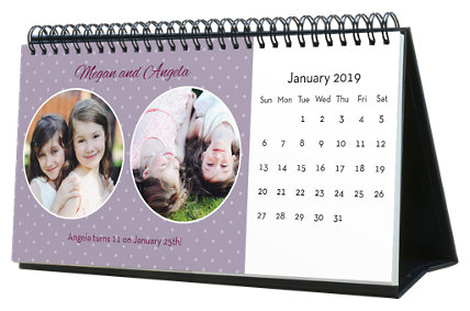 Dots, Stripes, & Patterns 12 Month Photo Hardcover Desk Calendar 10 x 5