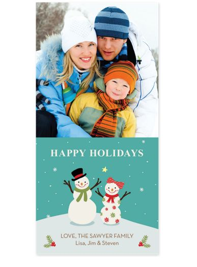 Snow Couple Photo Holiday Cards