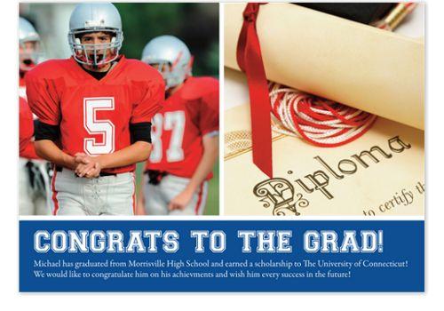 Epiphany Harvard Blue Graduation Announcements