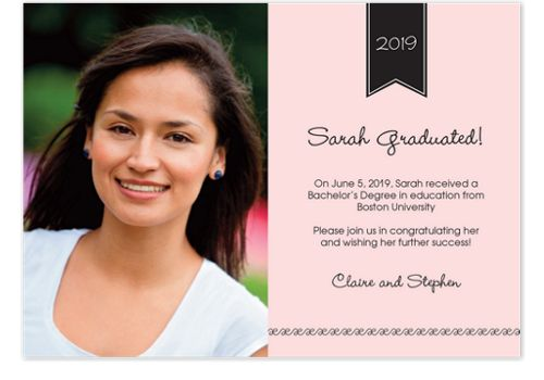 Classic Graduation Graduation Photo Announcements