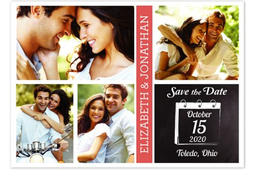 Calendar Page Save the Date Photo Cards