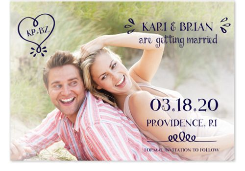 Heart of Love Save the Date Cards
