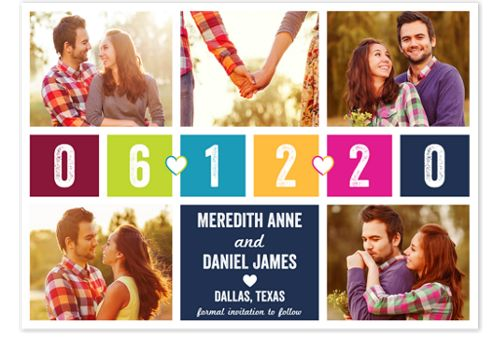 Beloved Blocks Save the Date Cards