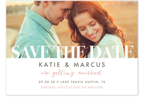 Paper Letters Save the Date Cards