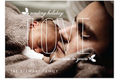Sending Love Photo Holiday Cards