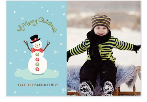 Dapper Snowman Photo Christmas Cards