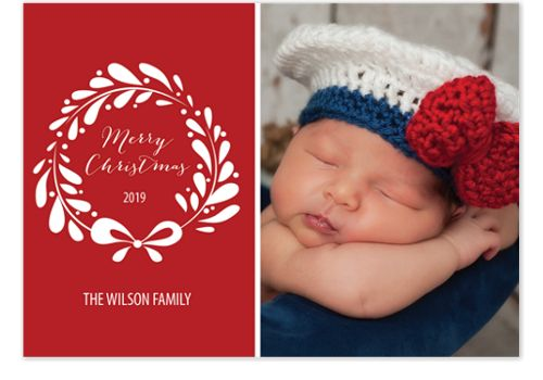 Latte Wreath Christmas Photo Cards