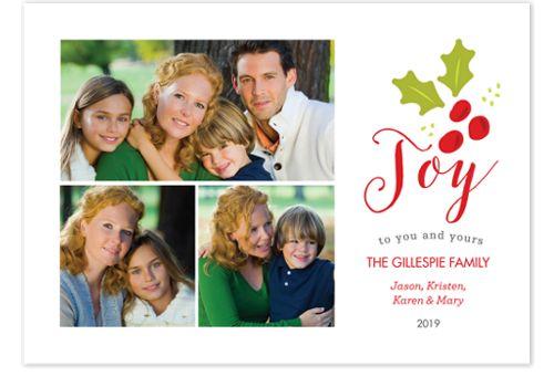 Joy Berry Photo Christmas Cards