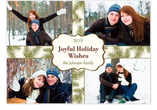 Joyful Holiday Wishes Photo Cards