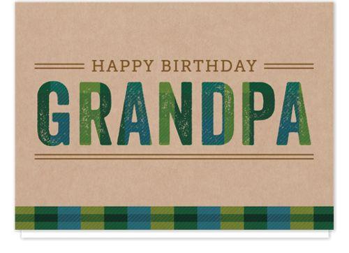 Plaid Grandpa Birthday Cards