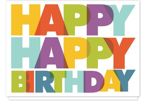 Birthday Colors Birthday Cards