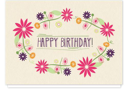 Birthday Wreath Birthday Cards