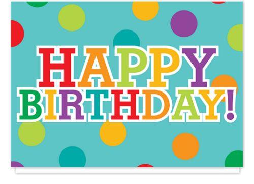 Birthday Polka Dot Birthday Cards