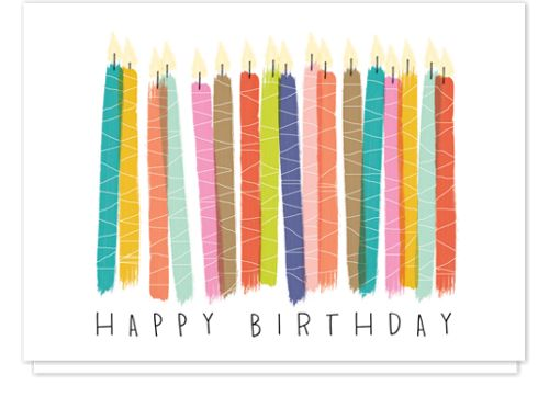 Watercolor Candles Birthday Cards