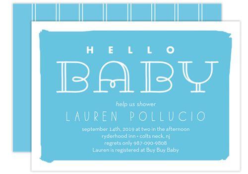 Hello Baby Baby Shower Invitations