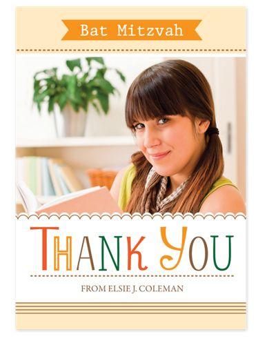 Elsie Bat Mitzvah Thank You Cards