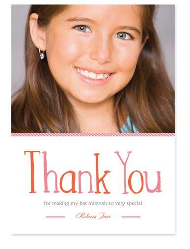 Very Grateful Bat Mitzvah Thank You Cards
