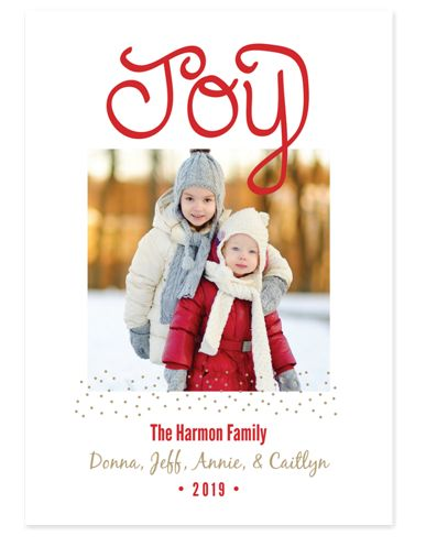 Joy & Stardust Holiday Photo Cards