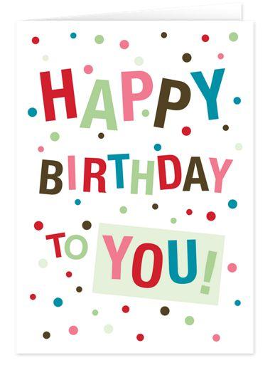 Confetti Birthday Birthday Cards