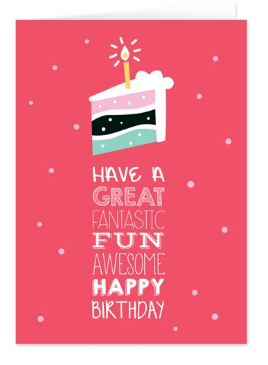 Piece of Cake Birthday Cards