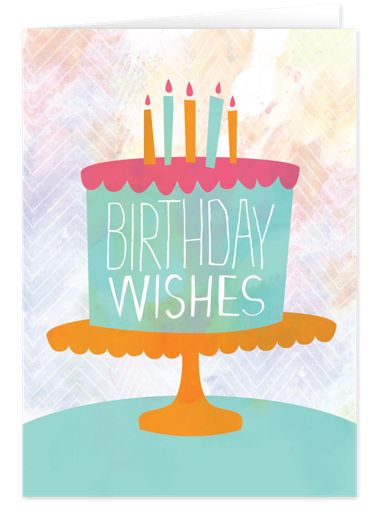 Watercolor Birthday Wishes Birthday Cards