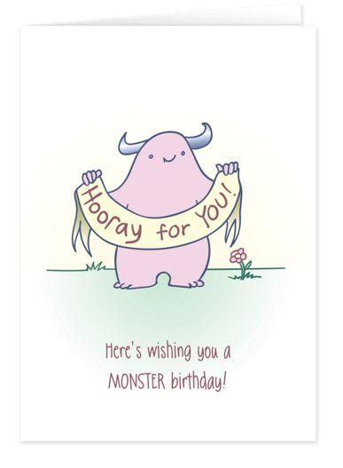 Monster Birthday Birthday Cards