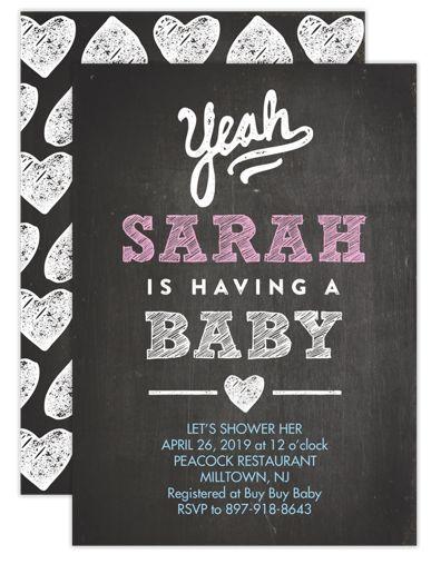 Yeah Baby Baby Shower Invites