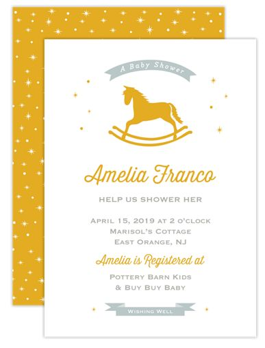 Race to the Stars Baby Shower Invites