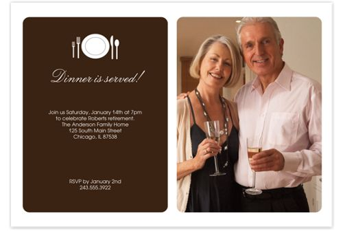 Dinner is Served Adult Party Invitations
