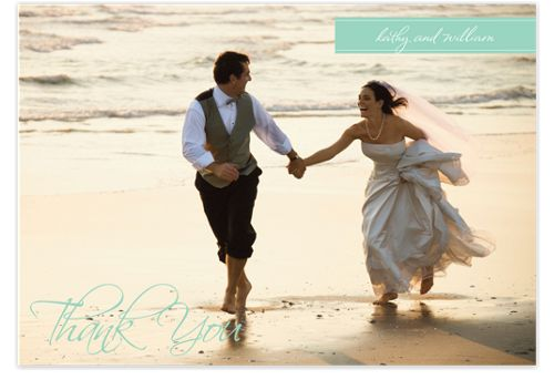 Simply Thank You Photo Wedding Thank You Cards