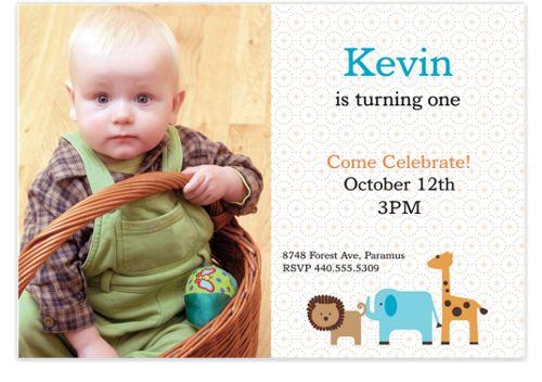Come Celebrate Kid Party Invitations