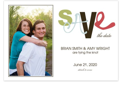 I Got You Babe Save the Date Cards