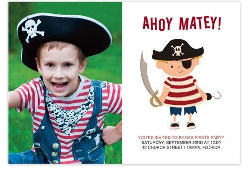 Ahoy Matey Birthday Party Invitations