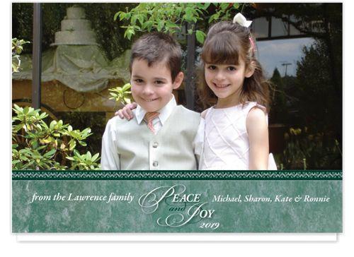 Peace & Joy Christmas Photo Cards - $1.38