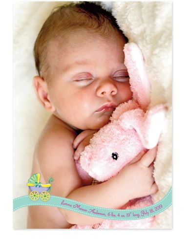 Sweet Dreams Baby Birth Announcement Photo Cards