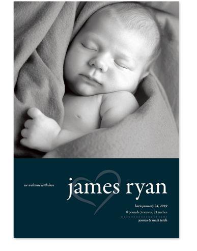 Sugar Plum Birth Announcement Cards