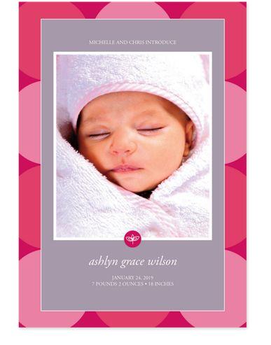 Simple Circles Birth Announcement Photo Cards