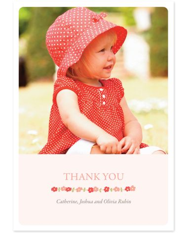 Floral Pink Thank You Cards