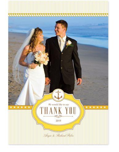 Nautical Thanks Wedding Thank You Cards