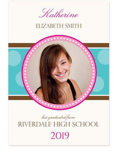 Center Circle Graduation Photo Cards