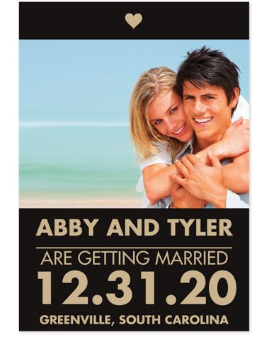 P.S. I Love You Save the Date Card with Photo