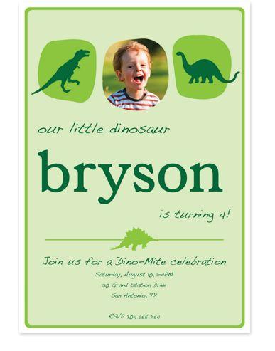 Dino-Mite Birthday Party Invitations