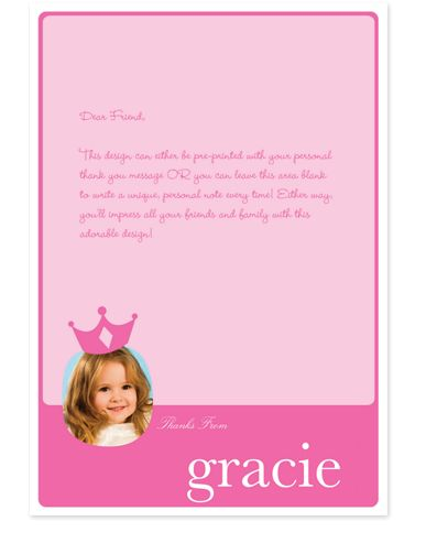 Pink Photo Thank You Cards