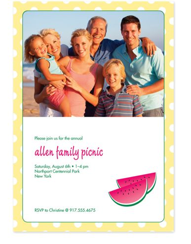 Watermelon Slices Adult Party Invitations