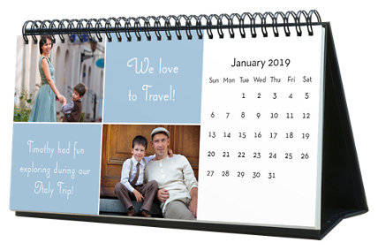 Solid Colors 12 Month Photo Hardcover Desk Calendar 10 x 5