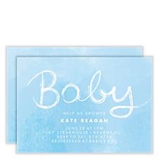 Blue Skies Baby Shower Invites