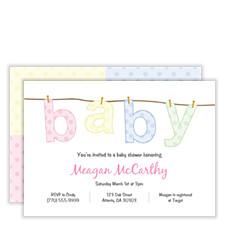 Baby Wash Baby Shower Invites